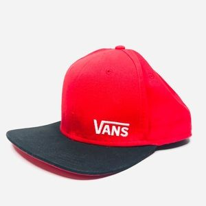 Vans Red Black Unisex Snapback Hat A180830